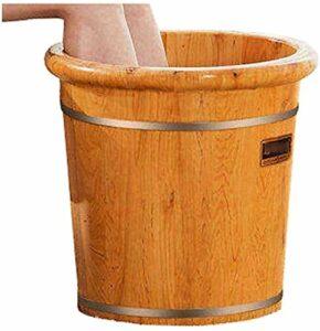 Bain De Pied Massage Pieds Baignoire à pied domestique, piéton, baignoire en bois à pied, canot de lavage de pied, seau de massage pied, pied relaxant, soulagement de la fatigue de la douleur (couleur