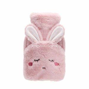 Bouillotte de 500 ml avec housse en forme de lapin et carotte, chauffe-mains pour fille et pieds (couleur : A8)