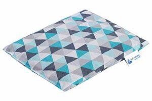 Coussin chauffant en noyaux de cerise 500 g rectangulaire 20×25 cm 100% coton certifié Öko-Tex Medi Partners Chaleur + thérapie par le froid Thérapie de massage (Triangles de menthe)
