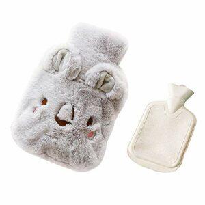 Drizzle Bouillotte avec housse en polaire douce Série animale Classic Procure chaleur et confort (Koala gray)