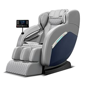 Fauteuil de massage, Fauteuil massant électrique pour tout le corps, Bluetooth, pour soulager la fatigue corporelle, convient pour la maison et le bureau (gris)