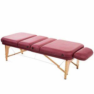 Gaoyuhong anmochuang LJHA Lit De Massage, Lit De Massage Spa Pliant Beauté Double Couche Et Épaississement Tables de Massage (Couleur : Blanc)