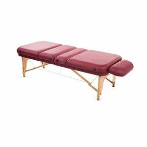 Gaoyuhong anmochuang LJHA Lit de Massage Portable, Léger Pliant Visage Spa Lit Maison Salon de Beauté Tables de Massage (Color : Red Wine)