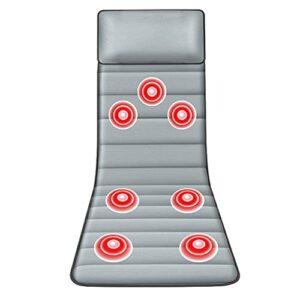 G-FLOOR-MAT Matelas Massant Électrique Vibrant pour Tout Le Corps, Relaxation Musculaire, Tapis De Massage avec 7 Moteurs De Vibration pour Chaise De Bureau De Canapé