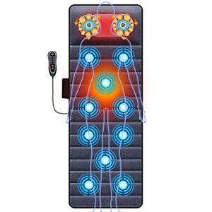 G-FLOOR-MAT Tapis De Massage avec Chaleur Électrique 20 Têtes De Massage Shiatsu Pétrissage du Cou Cou Taille Dos Coussin De Massage Multifonctionnel
