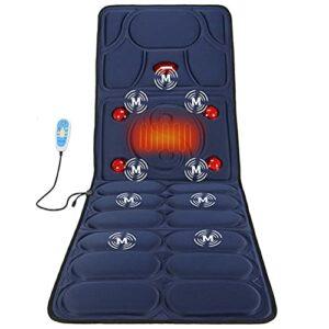 G-FLOOR-MAT Tapis De Massage Chauffant avec 9 Moteurs De Vibration, Coussin De Massage du Cou Cervical pour Hanches À La Taille du Dos, Utilisation Au Bureau À Domicile