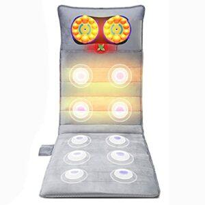 G-FLOOR-MAT Tapis De Massage Chauffant- Masseur De Dos avec 20 Moteurs De Vibration, Coussin De Massage Multifonctionnel À Domicile pour Cou, Dos