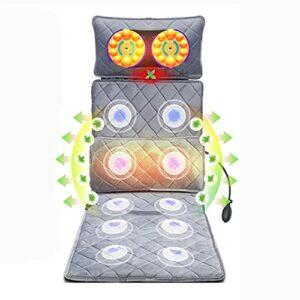 G-FLOOR-MAT Tapis De Massage du Corps avec Oreiller De Massage Shiatsu pour Le Cou, pour Le Dos, Les Épaules Et Le Cou | Masseur De Cou Et De Dos avec Chaleur