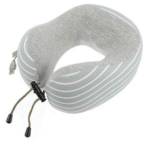 HEMOTON Massage intelligent pour le cou électrique Masseur de cou Oreiller portable U Col Masseur cervical pour le travail à la maison, au bureau Bleu