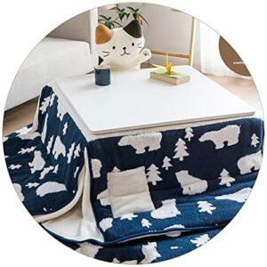 JINCAN Table de chauffage Table basse Multifonctionnelle de style japonais Table basse Table basse suret de bureau chauffage électrique Safe et économie d'énergie Température réglable