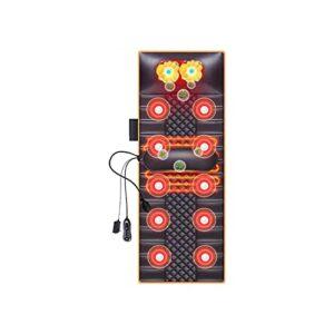 KSDCDF Coussin de mousse de mousses de massage de tampon de chauffage électrique avec moteurs de vibration Modes Min Thérapie de chauffage automatique for le cou, dos, taille, jambes soulagement de la