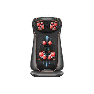 KSDCDF Masseur au Cou et au Dos – Masseur de Dos Complet avec la Compression de Chaleur et de réglage, Coussinet de Chaise de Massage for col épaule et Taille arrière, Corps Complet