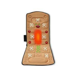 KSDCDF Tapis de massage vibrant de corps complet – Coussin de chauffage de massage, coussin de matelas de massage avec moteurs vibrants, rembourrage dos de masseur, soulage le stress et la douleur mus