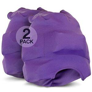 Magic Gel Lot de 2 bonnets pour soulager les maux de tête et les migraines – Masque de glace ou chapeau utilisé pour soulager les migraines et les tensions – Extensible, confortable, sombre et frais