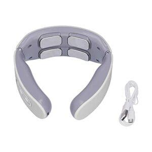 Masseur d'épaule, soulager la fatigue masseur cervical intelligent pour la maison pour le bureau(blanche)
