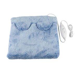 oshhni Coussin chauffant lit chauffant rapide pieds abdomen back office maison sous le bureau, chauffe-pieds électrique pour les femmes à la maison, Bleu