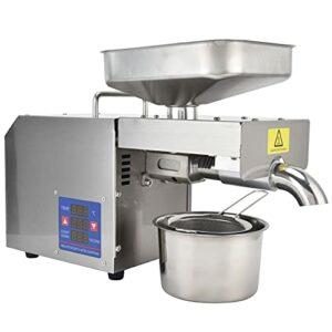 Presse à huile, machine à huile d'extrait de dissipation thermique de boîtier d'acier inoxydable pour l'huile de cuisson(rose)