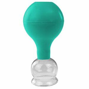 Pulox Pot de fleurs en verre véritable Différentes tailles et couleurs (40 mm, vert)