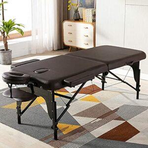 Table de massage lit de massage portable lit spa hauteur réglable 2 lit de massage pliant lit spa berceau facial lit de salon avec étui de transport