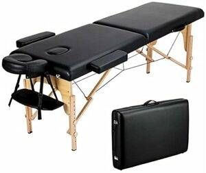 Table de massage portable lit de massage SPA hauteur réglable 2 lit de salon de tatouage SPA de thérapie pliante avec étui de transport