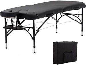 Table de massage portable lit de massage SPA hauteur réglable 2 thérapie pliante lit de salon de tatouage SPA avec appui-tête accoudoirs de berceau