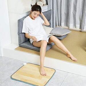 Tapis chauffant chauffé électrique chauffage chauffage à la main tapis à main Tapis à main Tapis de chaleur, tapis chauffant au sol mobile, surchauffe de protection de la sécurité, 50 * 60 cm (19,68 *