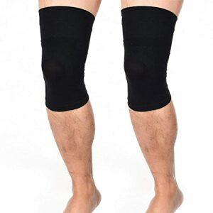 Worth having – Manche de compression du genou (1 paire), Brace de genou pour hommes et femmes Fitness, améliorer le soulagement des douleurs articulaires, le soulagement de l'arthrite – Boost Circulat