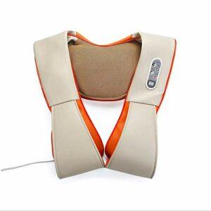 Worth having – Masseur de cou et d'épaule Shiatsu – simule les vraies mains de massothérapeute, d'intensité réglable tissu profond 3D oreiller de pétrissage pour la maison et le bureau des muscles de