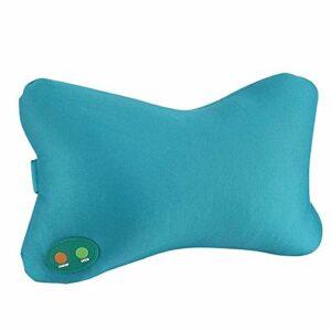 Worth having – Oreiller de massage SHIATSU portable électrique avec chauffage -deep pétrissage omoplanie du col lombaire back masseur, motif confortable peluche, pour soulagement de la douleur muscula