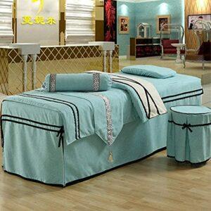 XKun Ensemble de 6 housses de lit de beauté simples haut de gamme pour salon de beauté, lit de massage, combinaison 80 x 190 cm