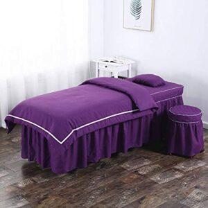 XKun Housse de lit de massage 4 pièces pour salon de beauté 70 x 185 cm