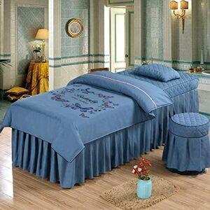 XKun Housse de lit de salon de beauté de luxe en coton pour lit de massage 70 x 190 cm