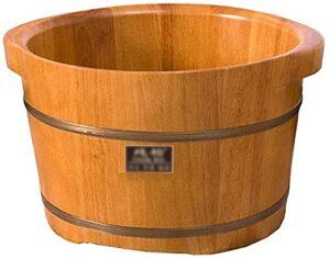 XXF-Shop Bain De Pied Massage Pieds Pied de Poulets, Bassin de Pied de chêne, Baignoire en Bois, Canon de Bain de Sauna, Godet de Bain de Pieds, Massage Spa (Couleur: 3), Massage Shiatsu (Color : 1)