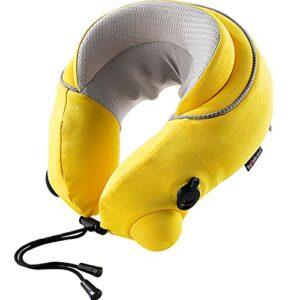 ZHYYYDS Bureau De Massage électrique d'oreiller en Forme De U Massage De La Colonne Vertébrale Cervicale pour Détendre La Tête De Charge USB,Yellow